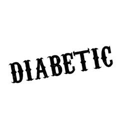 Diabetic rubber stamp vector