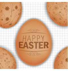 easter brown eggs background vector image vector image