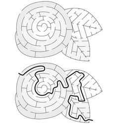 Easy flower maze vector