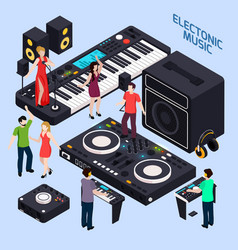 Electronic dance music composition vector