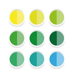 empty sticker label set vector image