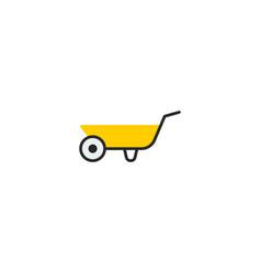 flat icon wheelbarrow element vector image