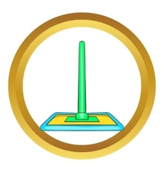 Floor cleaning mop icon vector