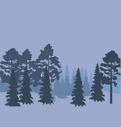 forest landscape abstract nature background with vector image