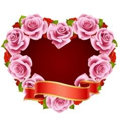 Framework pink roses vector image