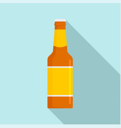 glass bottle of beer icon flat style vector image