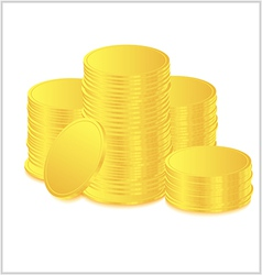 golds coin vector image