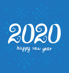greeting card design template happy new year 2020 vector image