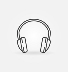 headphone isolated minimal icon in thin vector image