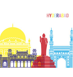 Hyderabad skyline pop vector
