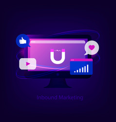 inbound marketing concept vector image