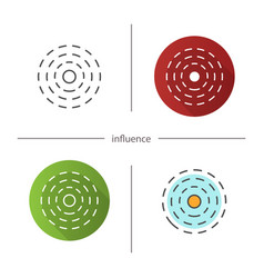 Influence abstract symbol icon vector