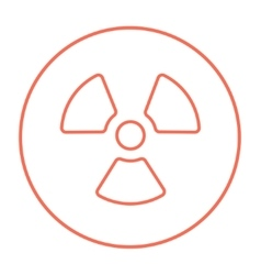 Ionizing radiation sign line icon vector