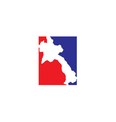 Laos map logo icon symbol element vector