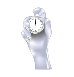 metal hand and stopwatch vector image