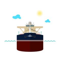 Oil Tanker on White Background vector