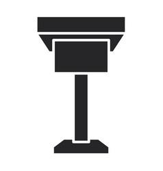 podium rostrum iconblack icon vector image