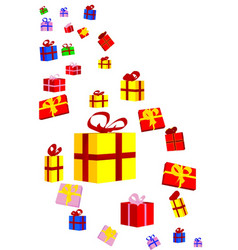 Presents and bows vector
