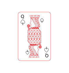 Queen of spades french playing cards related icon vector