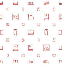 Read icons pattern seamless white background vector