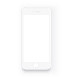 Realistic white mobile phone mock up smartphone vector