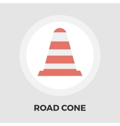 Road Cone icon flat vector image