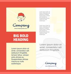 santa clause company brochure title page design vector image