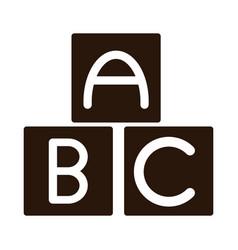 School education alphabet abc blocks supply vector