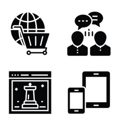 Seo and web icons collection vector