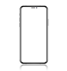 smartphone with blank white screen realistic vector image