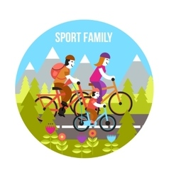 Sport Family Concept vector image vector image