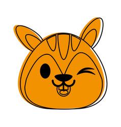 Squirrel cute animal cartoon icon image vector