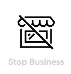stop business protection measures icon editable vector image