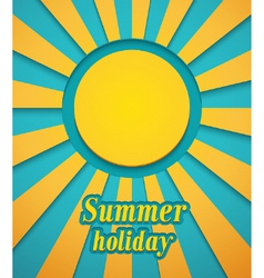 Summer background with sun vector image