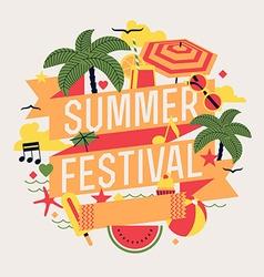 Summer Festival Poster vector image