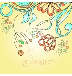 summer greeting card vector image