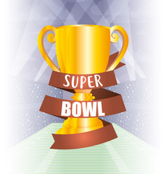 Superbowl sport poster with trophy cup vector