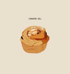 traditional homemade cinnamon rolls sketch vector image