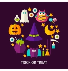 Trick or Treat Greeting Card vector