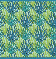Underwater seaweed seamless pattern print with vector