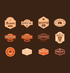 Variety retro coffee badge design vector