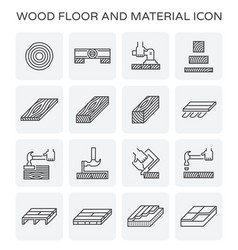 wood floor icon vector image