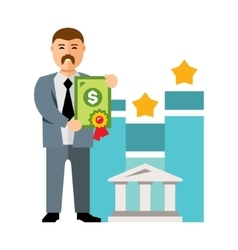 Bank loan Flat style colorful Cartoon vector image