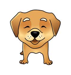 cute happy dog vector image