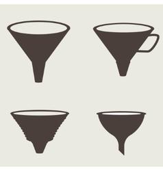 Funnel icon vector image vector image