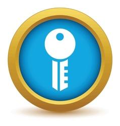 Gold key icon vector image vector image
