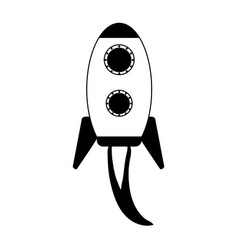 cartoon rocket or spaceship icon image vector image