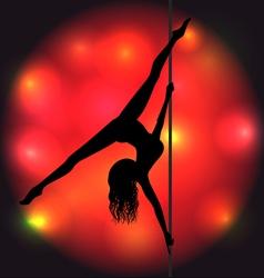Pole dancer vector image vector image