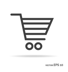 shopping cart outline icon black color vector image