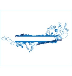 Blue banner vector image vector image